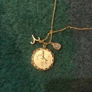 ARIES GOLD PLATED NECKLACE NWT